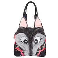 Irregular Choice: Mr Wolf Handbag - Black