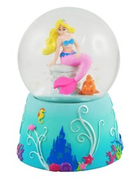 Pink Poppy: Summer Mermaid - Snow Globe
