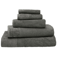 Bambury Costa Cotton Hand Towel (Pewter)