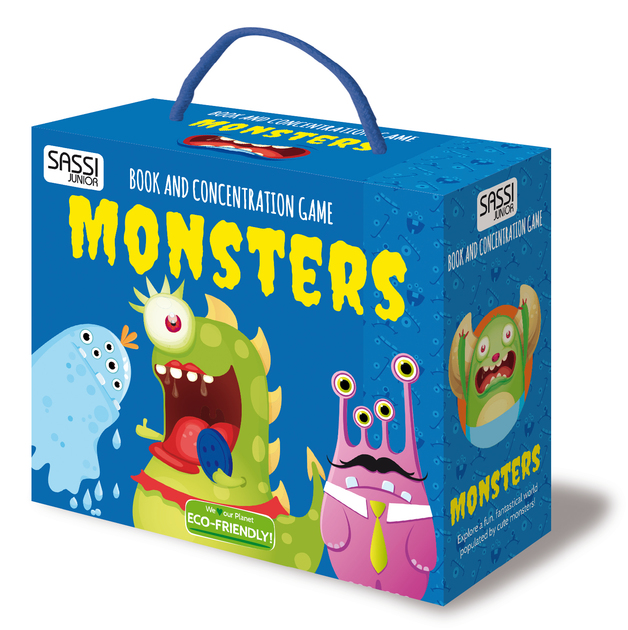 Sassi Book and Memory Matching Set (Monsters)