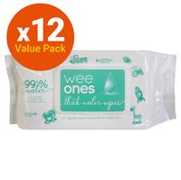 Wee Ones: Water Wipes - 12 Packs of 80 Wipes