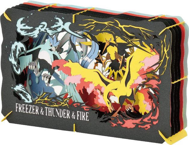 Pokemon Paper Theater: Freezer & Thunder & Fire