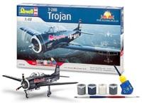 """Revell T-28B Trojan """"Flying Bulls"""" Gift Set 1/48 Model Kit"""