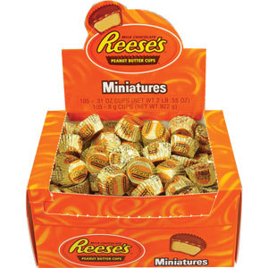 Reese's Peanut Butter Cups Miniatures Bulk Box 8g (105 Cups)