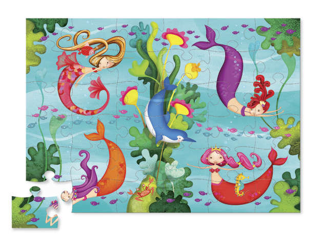 Crocodile Creek: Shaped Box Puzzle - Mermaid (36pc)