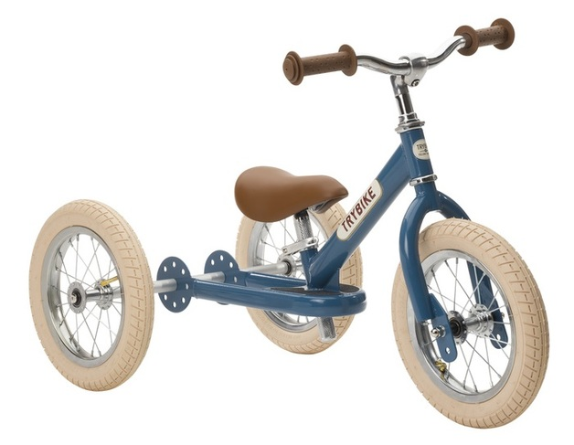 Trybike: 2-In-1 Steel Balance Bike - (Blue/Brown)