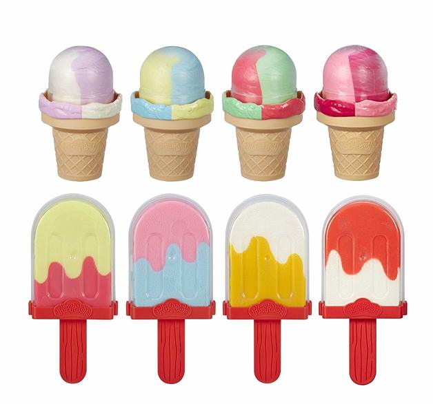Play Doh: Kitchen Creations - Ice Pops 'n Cones Playset - Freezer Plus 8-Pack