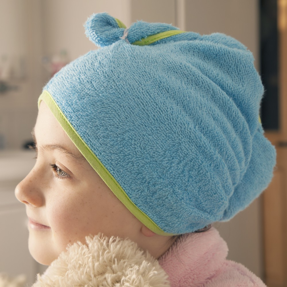 Cuddletwist Bamboo Hair Towel - Blue image