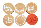Kaisercraft Lucky Dip Rubber Stamps - Thank You (6pk)