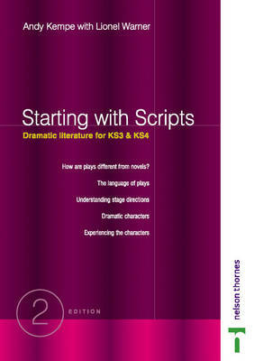 Starting with Scripts - Dramatic Literature for Key Stages 3 & 4 by Andy Kempe image