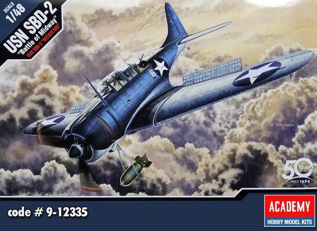 "Academy: 1/48 USN SBD-2 ""Battle of Midway"" - Model Kit"