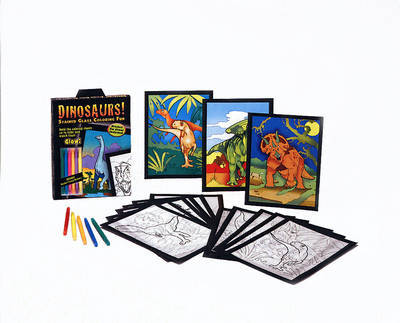 Dinosaurs!: Stained Glass Coloring Fun by Jan Sovak image