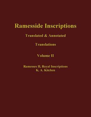 Ramesside Inscriptions by K.A. Kitchen
