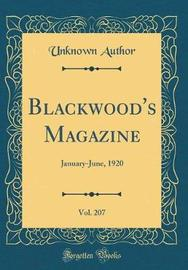 Blackwood's Magazine, Vol. 207 by Unknown Author image