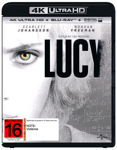 Lucy on Blu-ray, UHD Blu-ray