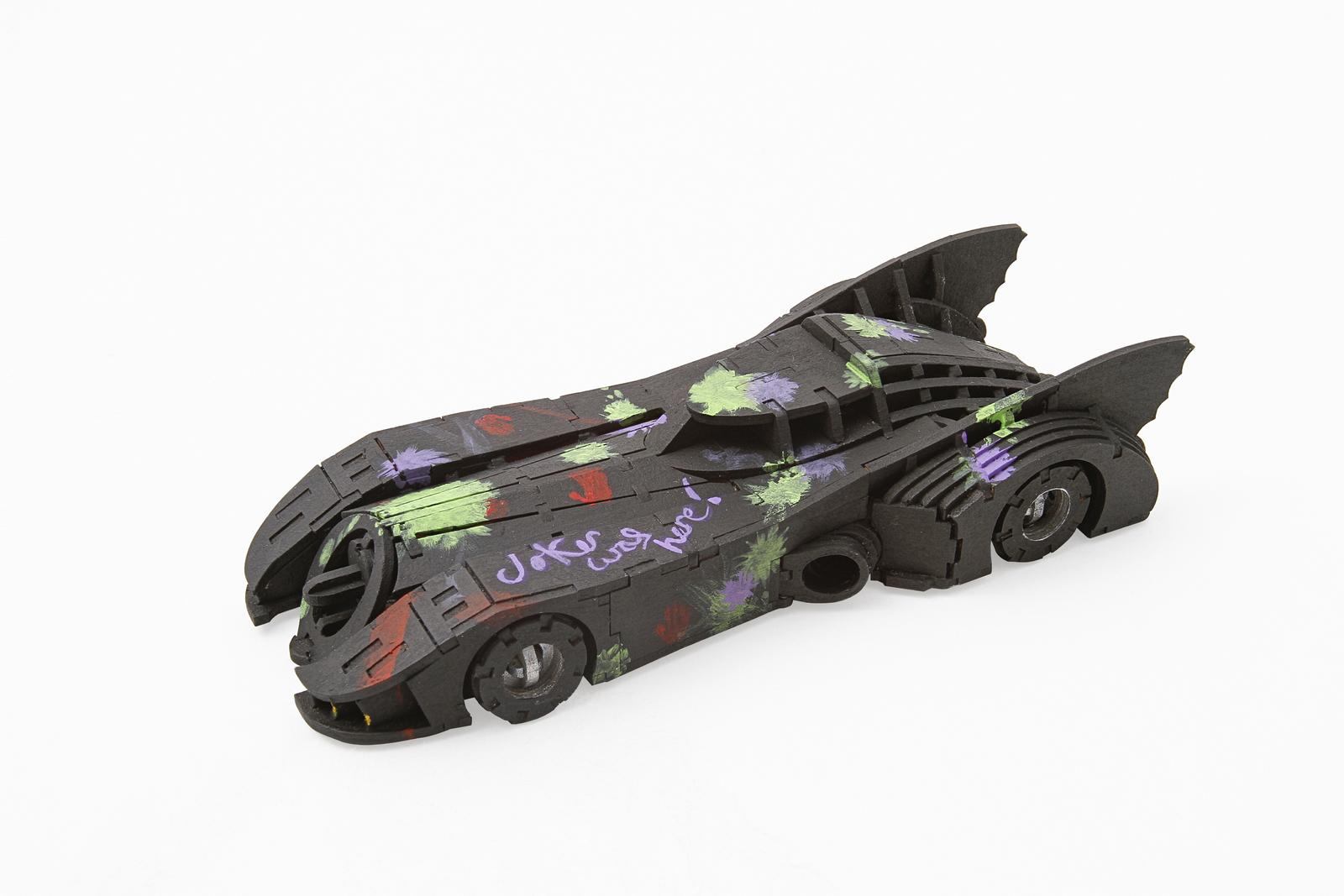 IncrediBuilds: Signature Series 3D Wood Model and Book - Batmobile image