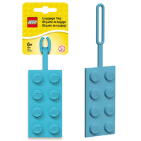 LEGO Luggage Tag Teal Brick
