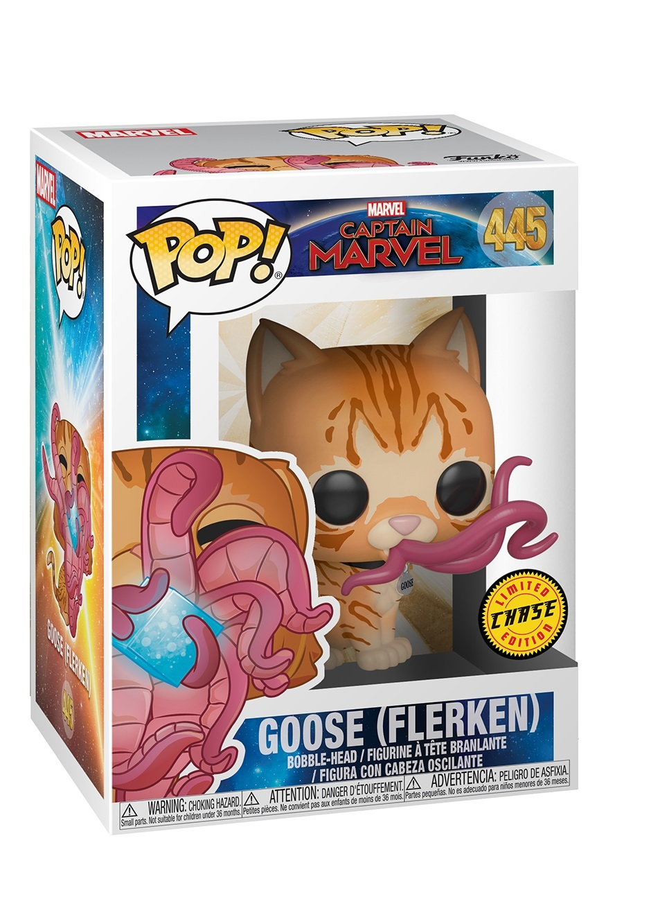 Captain Marvel - Goose the Cat (Flerken) Pop! Vinyl Figure (with a chance for a Chase version!) image