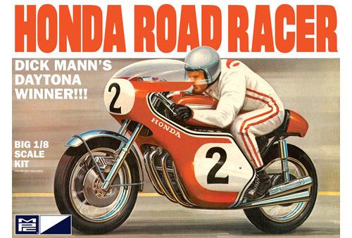 MPC: 1/8 Dick Mann Honda 750 Road Racer Motorcycle - Model Kit