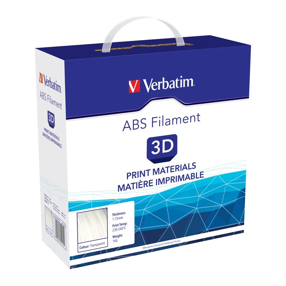 Verbatim 3D Printer ABS 1.75mm Filament - 1kg (Transparent) image