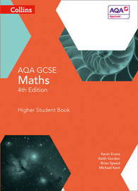 GCSE Maths AQA Higher Student Book by Kevin Evans image