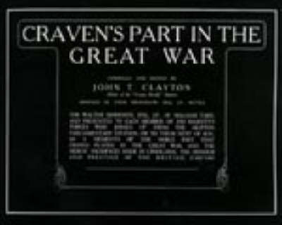 Craven's Part in the Great War by J.T. Clayton image
