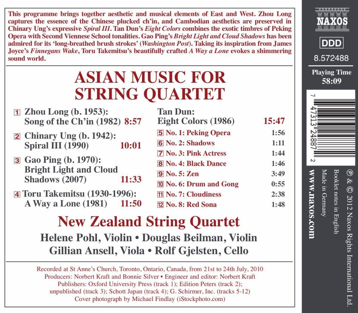 Asian Music for String Quartet by New Zealand String Quartet image