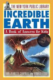 Incredible Earth: A Book of Answers for Kids by The New York Public Library image