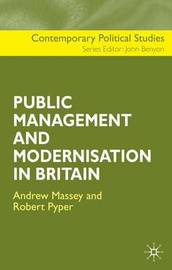 The Public Management and Modernisation in Britain by A Massey image