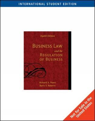 Business Law and the Regulation of Business, International Edition by Richard Mann image