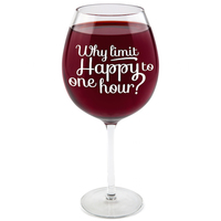 BigMouth Gigantic Wine Glass (The Happy Hour)