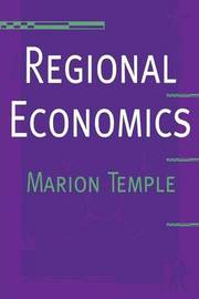 Regional Economics by Marion Temple image