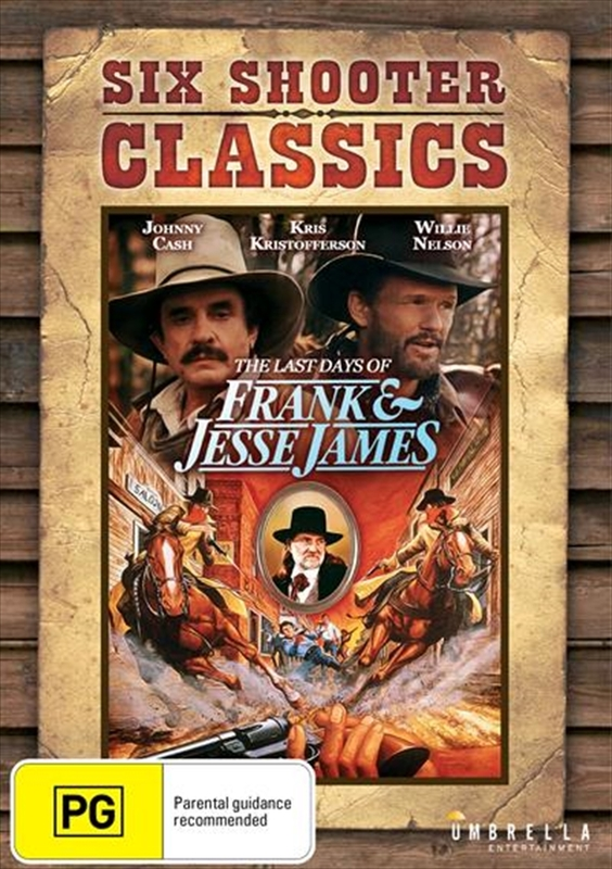 The Last Days of Frank and Jesse James on DVD