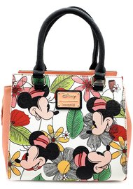 Loungefly: Mickey Mouse - Minnie Flower Print Tote Bag