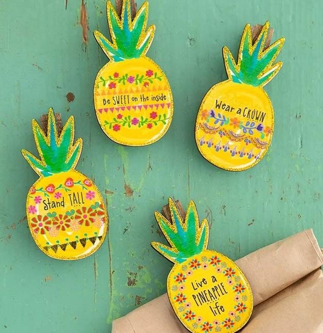 Natural Life: Magnet Chip Clip - Pineapple (Set of 4)