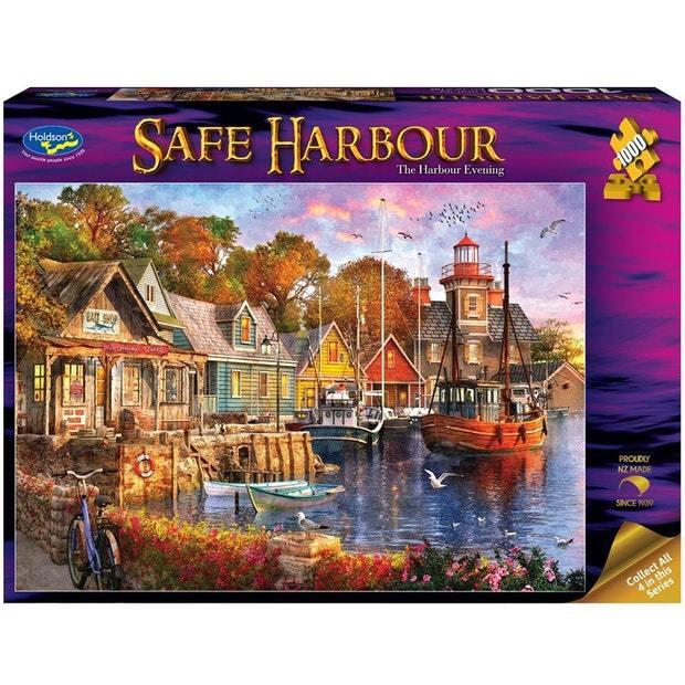 Holdson: 1000 Piece Puzzle - Safe Harbour (The Harbour Evening)