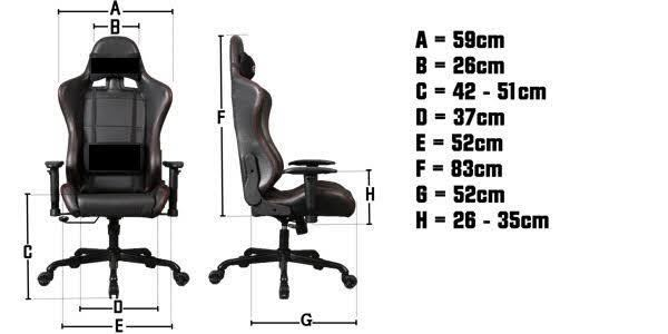 Gorilla Gaming Commander Chair - Black for  image
