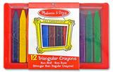 Triangular Crayons 12 pack - Melissa & Doug