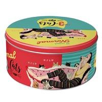 Nostalgic Art: Round Tin - 3 Cats Ago (Large)