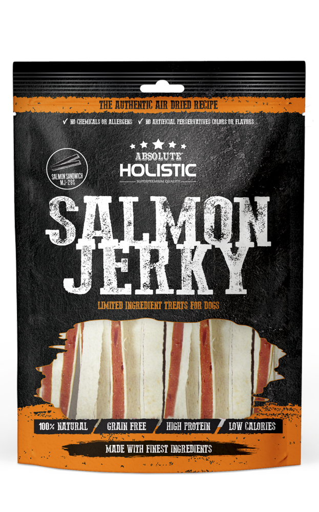Absolute Holistic Salmon Jerky for Dogs 90g image