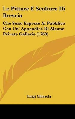 Le Pitture E Sculture Di Brescia: Che Sono Esposte Al Pubblico Con Un' Appendice Di Alcune Private Gallerie (1760) by Luigi Chizzola image
