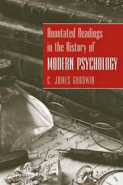 Annotated Readings in the History of Modern Psychology by C.James Goodwin image