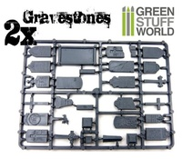 Green Stuff World: Plastic Gravestones Set (48pc) image