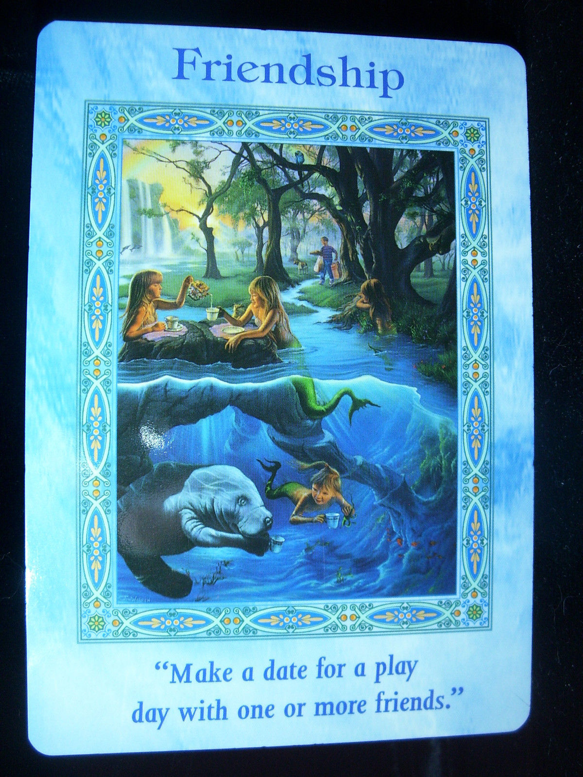 Magical Mermaids and Dolphins Oracle Cards (Deck + Guidebook) by Doreen Virtue image