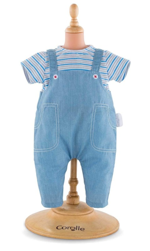 Corolle: Striped T-Shirt & Overalls Set - Doll Clothing (36cm)