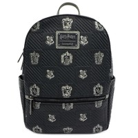 Loungefly: Harry Potter - Black Debossed Mini Backpack