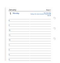 Filofax: Personal 2021 Refill - Day per Page (Lined)