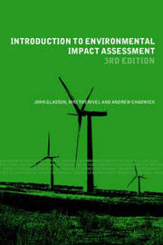 Introduction to Environmental Impact Assessment by John Glasson image