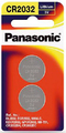 Panasonic Lithium 3V Coin Cell Battery CR2032 - 2 Pack
