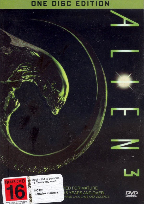 Alien 3 (Single Disc) on DVD image